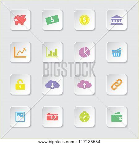 Colorful web icon set 4
