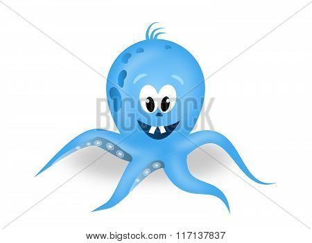 Blue Octopus Illustration