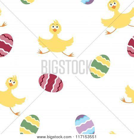 Easter chicken pattern
