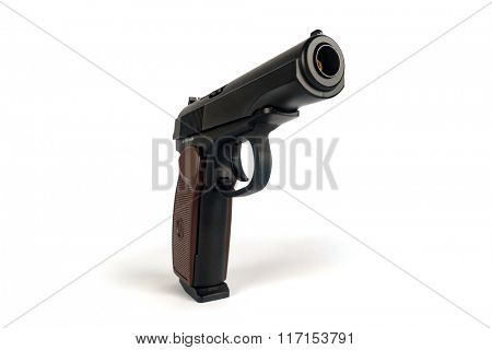 The Makarov pistol or PM is a Russian semi-automatic pistol, it became the Soviet Union's standard military and police side arm from 1951 poster