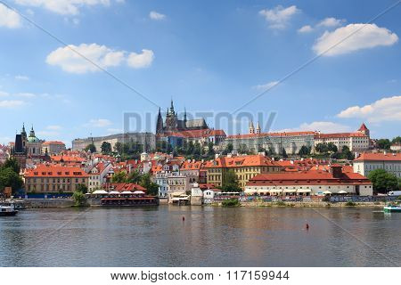 View Towards Prague Castle And Mala Strana (lesser Town)