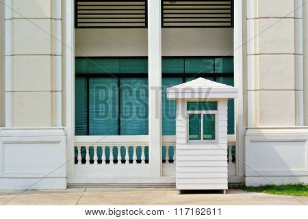 White Sentry Box And Building
