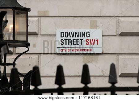 London, Uk - March 9Th 2014: Downing Street In Westminster, London Onthe 9Th March 2014.