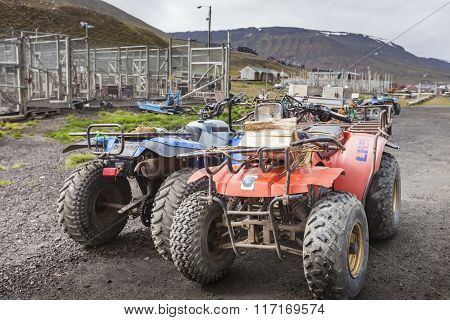 Off-road Vehicle Excursion In Longyearbyen, Norway.