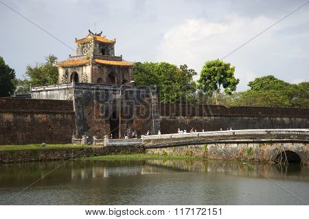 South gate of the fortress of Hue. Vietnam