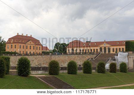 Friedrich Palace And Orangery At Baroque Garden Grosssedlitz In Heidenau, Saxony