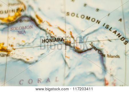 Solomon Islands Country Map .