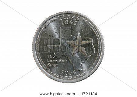 Isolated Texas Quarter