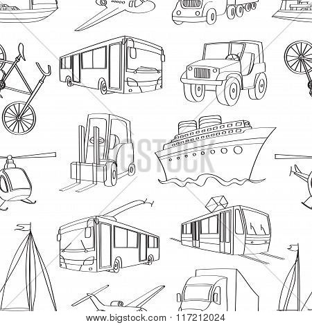 doodle patern transport