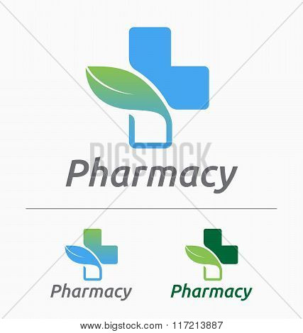 Medical pharmacy logo design