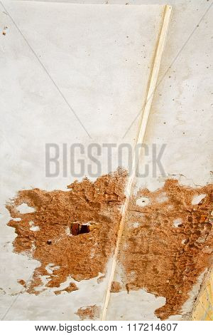 Santo   Lombardy Italy   Abstract   Wall Of A Curch Broke Brike Pattern