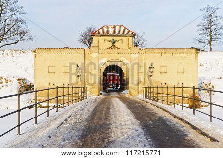 King Gate At Kastellet In Copenhagen In Winter