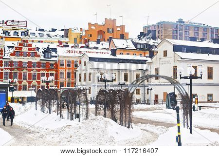 Winter Sodermalm And Stockholm City Museum