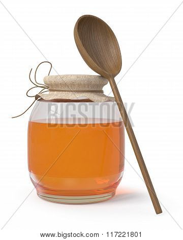 3D Bank With Honey