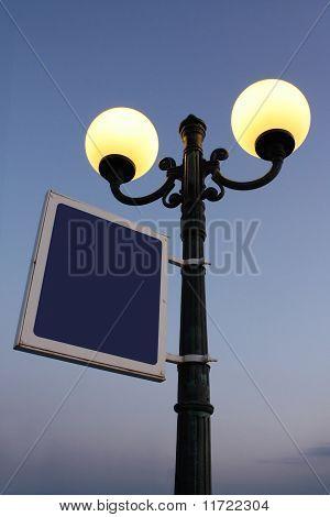 Lighting Street Lantern And Blank Plate