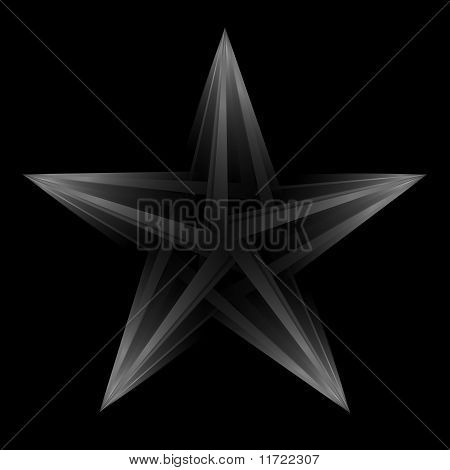 Abstract Futuristic Star On Black Background