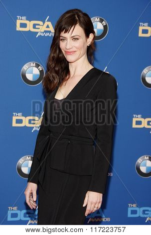 Maggie Siff at the 68th Annual Directors Guild Of America Awards held at the Hyatt Regency Century Plaza in Los Angeles, USA on February 6, 2016.