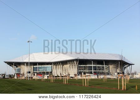 The parc olympique stadium in Lyon, France