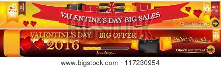 Valentine's Day 2016 web banners.