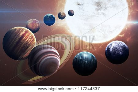 Ninth planet of the solar system opened. New gas giant. Elements of this image furnished by NASA