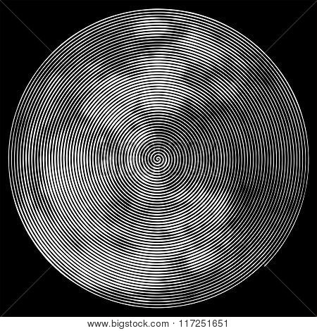 Abstract vector full moon shape.