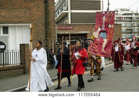 Clown Annual Church Service, Hackney, London