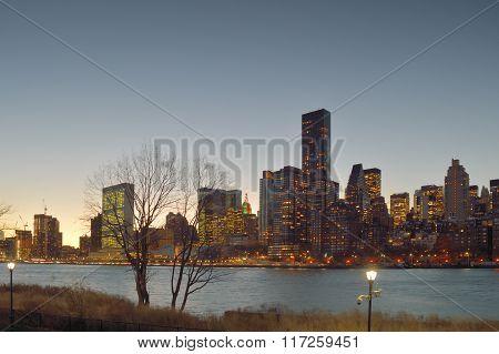 Twilight Over Manhattan.