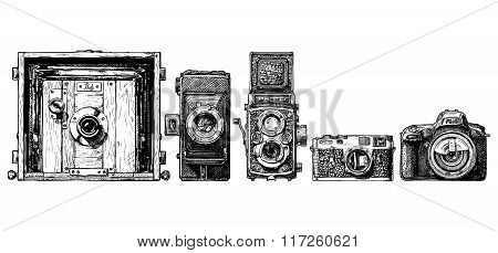 Photo Camera Evolution Set.