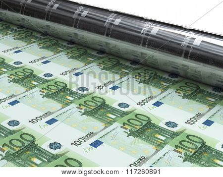 Money Machine To Print New Euro Banknotes