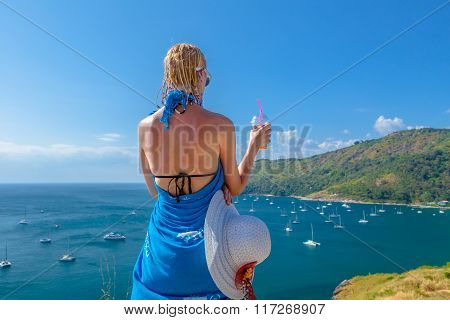 Woman looking viewpoint