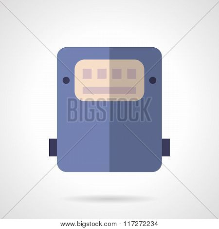 Saving energy device flat color vector icon