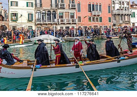 Opening Carnival Procession At Venice, Italy 14