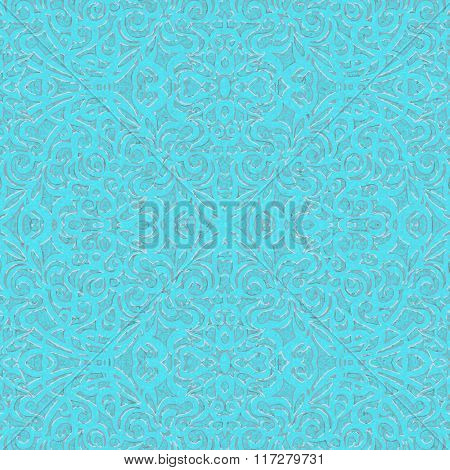 Baroque Style Light Blue and Silver, eps10