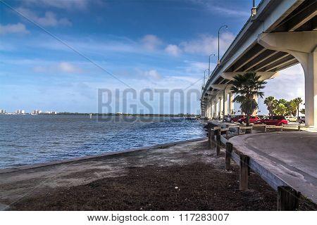 Jensen Beach under Bridge