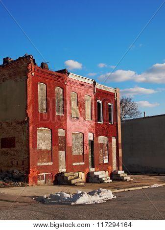 Abandoned Row House Block