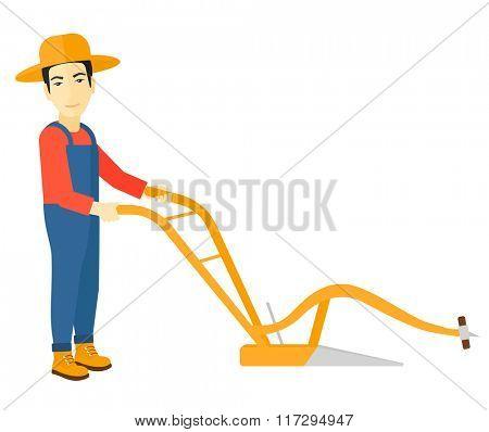 Farmer with plough.