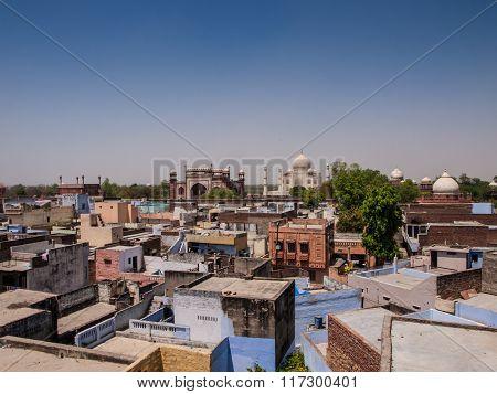 Roof top view of Taj Mahal