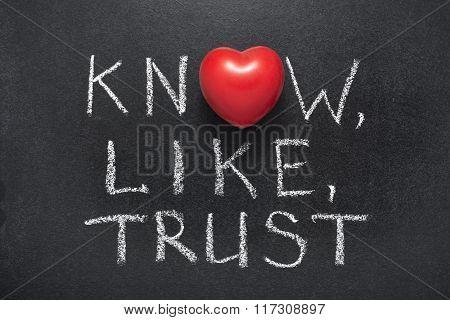 Know,like,trust Heart