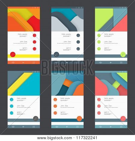 Set of user interface templates to-date design
