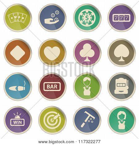 Casino simply icons