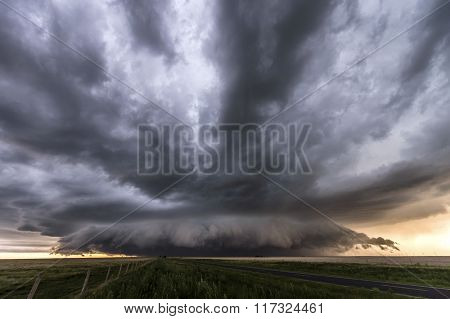 Beautiful supercell thunderstorm