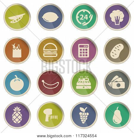 Grocery simply icons