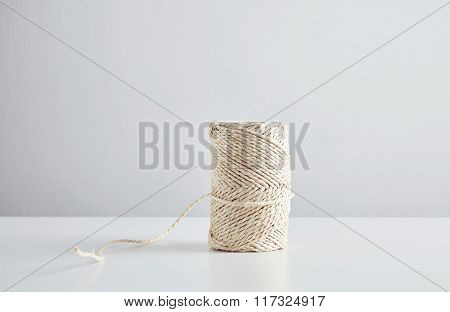 Hasp Of Craft Rope Isolated In Center