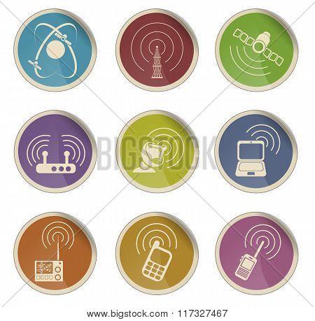 Radio signal vector icons