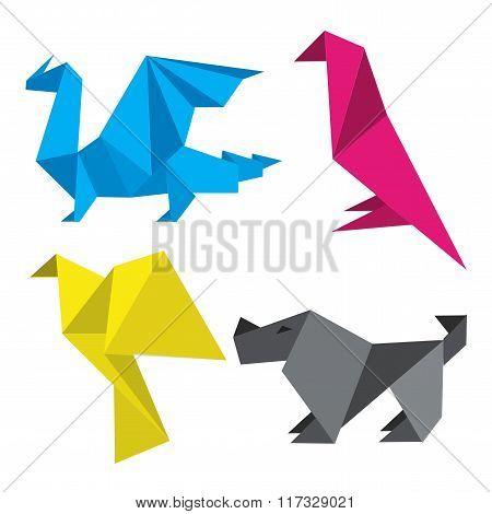 Origami In Print Colors