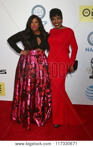 LOS ANGELES - FEB 5:  Amber RIley, Sheryl Lee Ralph at the 47TH NAACP Image Awards Arrivals at the Pasadena Civic Auditorium on February 5, 2016 in Pasadena, CA