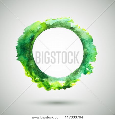 Watercolor-ring-green