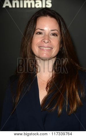 LOS ANGELES - JAN 30:  Holly Marie Combs at the PETA Superbowl Party at the PETA's Bob Barker Building on January 30, 2016 in Los Angeles, CA
