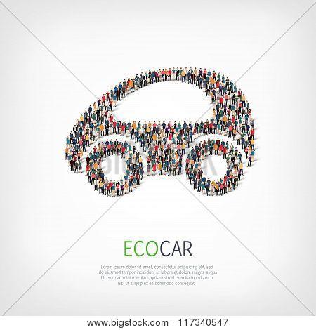 group  people  shape  eco car
