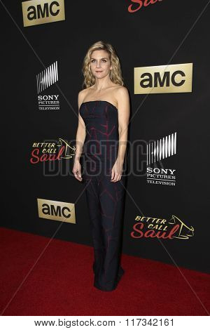 LOS ANGELES - FEB 2:  Rhea Seehorn at the Better Call Saul Season Two Special Screening at the ArcLight on February 2, 2016 in Culver City, CA